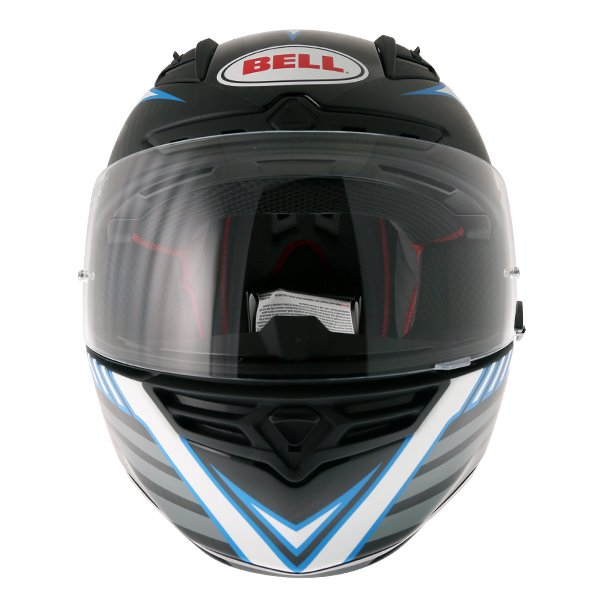 Bell Star Carbon Pinned Blue Full Face Motorcycle Helmet Front