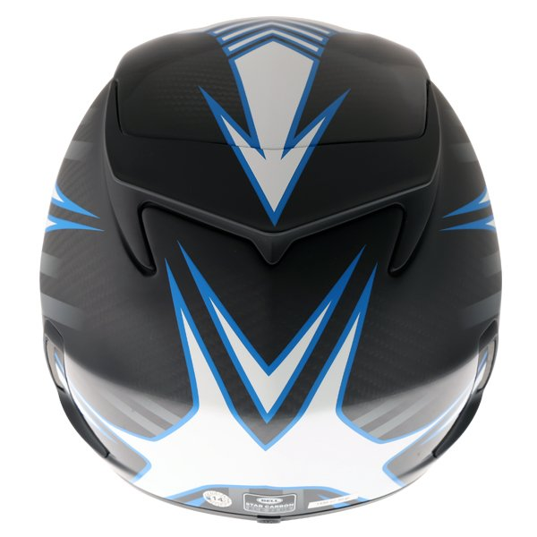 Bell Star Carbon Pinned Blue Full Face Motorcycle Helmet Back