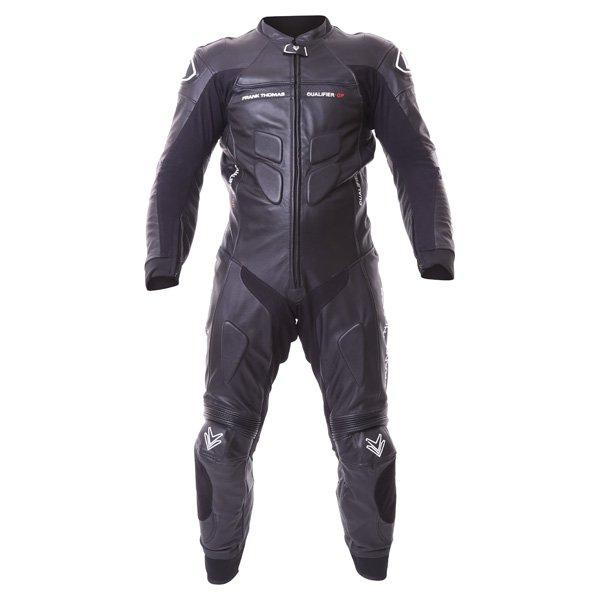 Qualifier 1 Piece suit Black Leather Motorcycle Suits