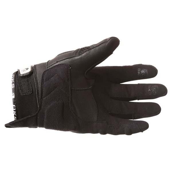 BKS Namib Mesh Black White Motorcycle Glove Palm