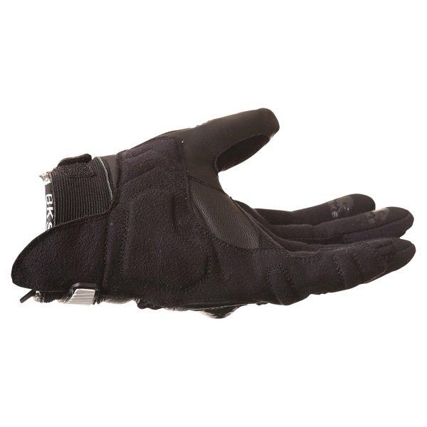BKS Namib Mesh Black White Motorcycle Glove Little finger side