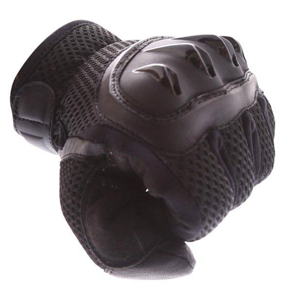 Frank Thomas Fresh Black Motorcycle Gloves Knuckle