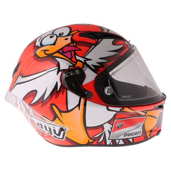AGV Corsa Andrea Iannone 2016 Winter Test Limited Edition Full Face Motorcycle Helmet Right Side