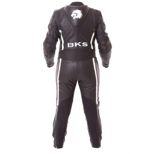 BKS Dakota 1 Piece Ladies Black White Leather Motorcycle Suit Back