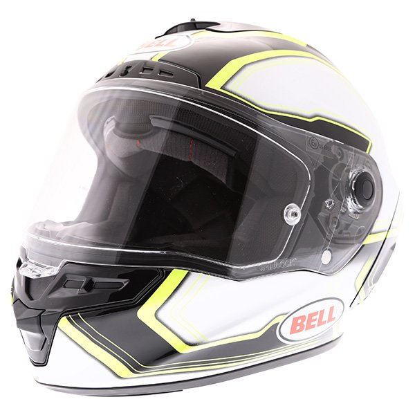 Bell Star Pace Black White Full Face Motorcycle Helmet Front Left