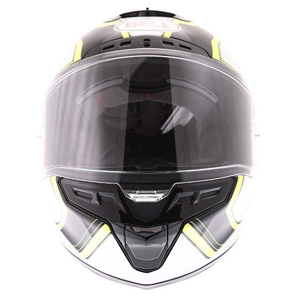 Bell Star Pace Black White Full Face Motorcycle Helmet Front