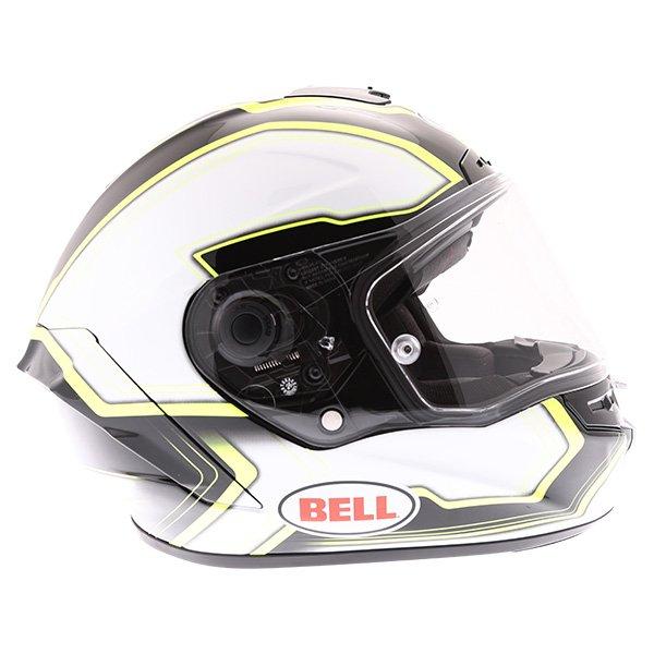 Bell Star Pace Black White Full Face Motorcycle Helmet Right Side