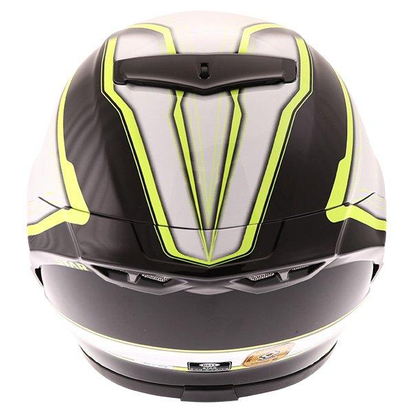 Bell Star Pace Black White Full Face Motorcycle Helmet Back