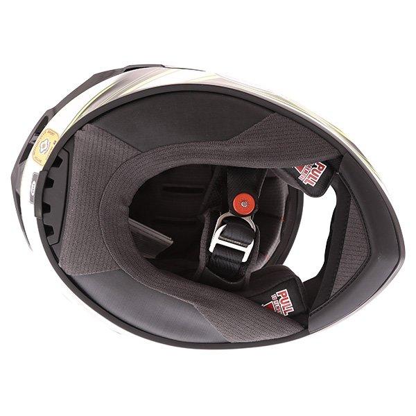 Bell Star Pace Helmet Black White Full Face Motorcycle Helmet Inside