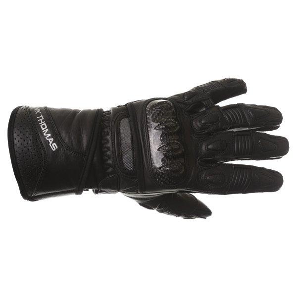 Frank Thomas Sport Black Motorcycle Gloves Back