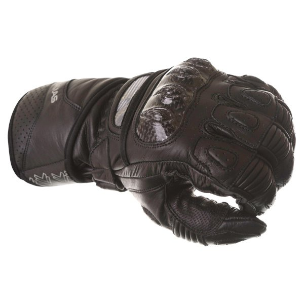 Frank Thomas Sport Black Motorcycle Gloves Knuckle