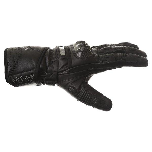 Frank Thomas Sport Black Motorcycle Gloves Thumb side