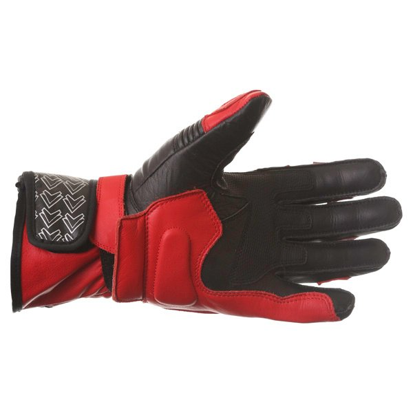 Frank Thomas Sport Black Red Motorcycle Gloves Palm