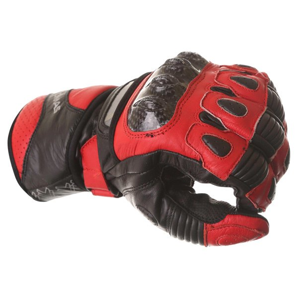 Frank Thomas Sport Black Red Motorcycle Gloves Knuckle
