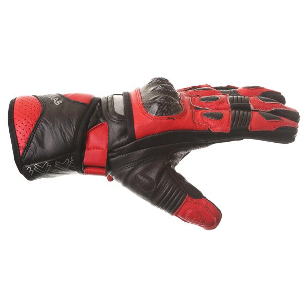 Frank Thomas Sport Black Red Motorcycle Gloves Thumb side