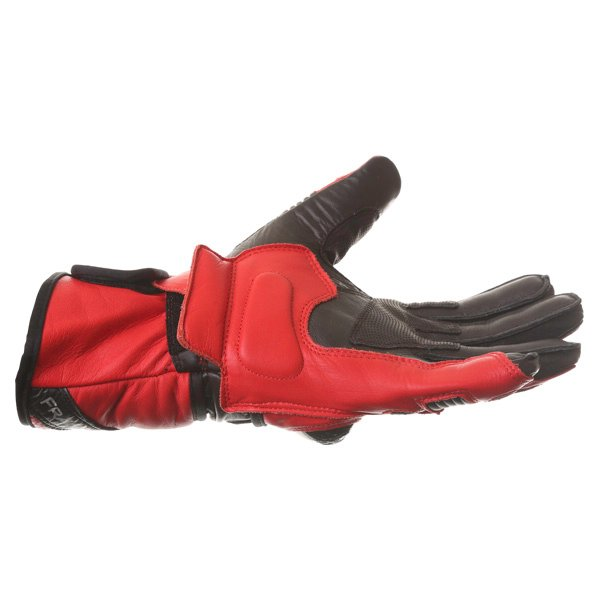 Frank Thomas Sport Black Red Motorcycle Gloves Little finger side
