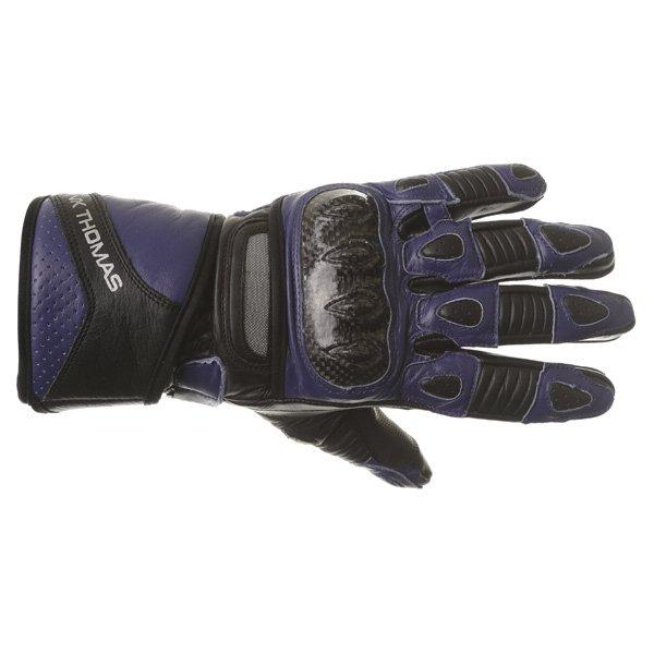 Frank Thomas Sport Black Blue Motorcycle Gloves Back
