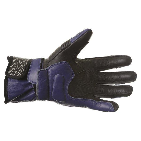 Frank Thomas Sport Black Blue Motorcycle Gloves Palm