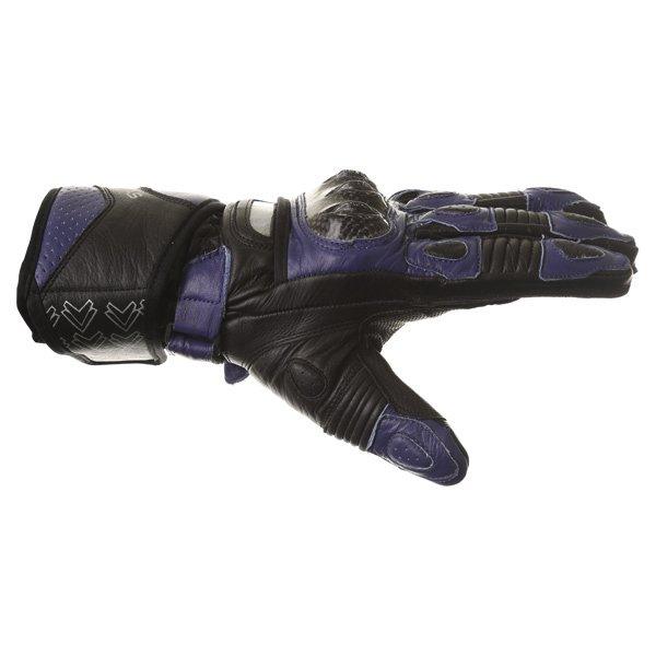 Frank Thomas Sport Black Blue Motorcycle Gloves Thumb side