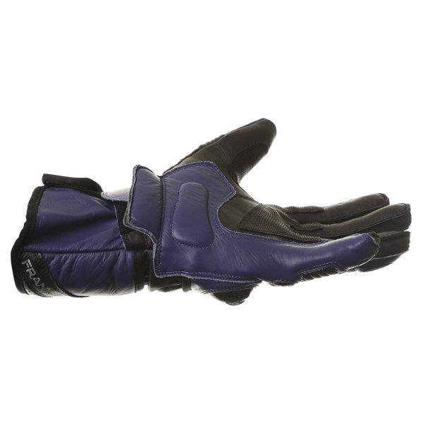 Frank Thomas Sport Black Blue Motorcycle Gloves Little finger side
