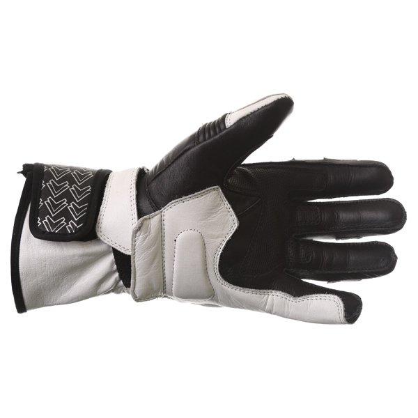 Frank Thomas Sport Black White Motorcycle Gloves Palm