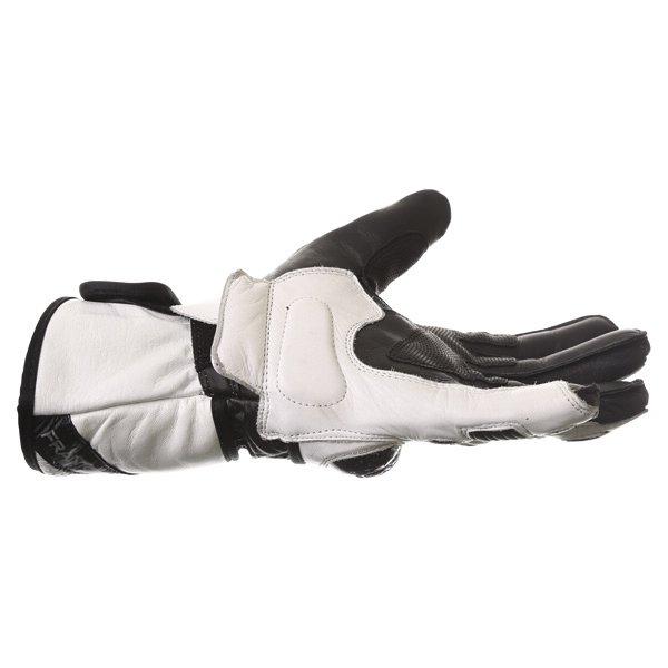 Frank Thomas Sport Black White Motorcycle Gloves Little finger side