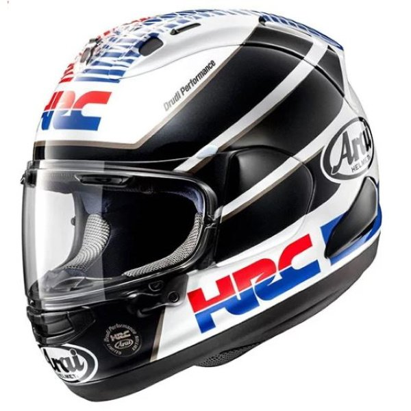 Arai RX-7V HRC Full Face Motorcycle Helmet Front Left