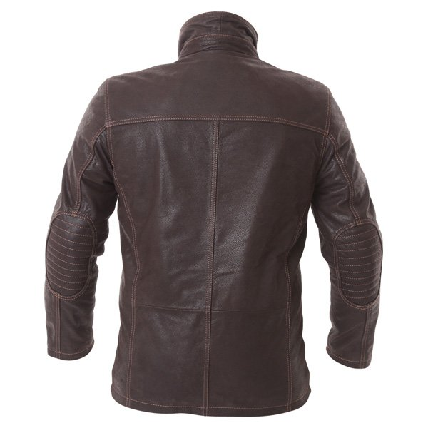 Frank Thomas Cashmere Brown Leather Motorcycle Jacket Back