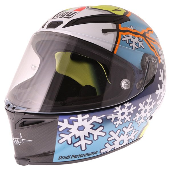 AGV Pista GP Rossi Ltd 2016 Winter Test Full Face Motorcycle Helmet Front Left