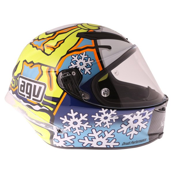 AGV Pista GP Rossi Ltd 2016 Winter Test Full Face Motorcycle Helmet Right Side