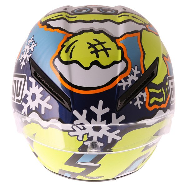 AGV Pista GP Rossi Ltd 2016 Winter Test Full Face Motorcycle Helmet Back