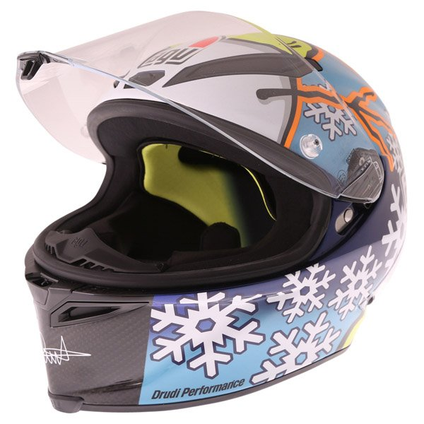 AGV Pista GP Rossi Ltd 2016 Winter Test Full Face Motorcycle Helmet Open