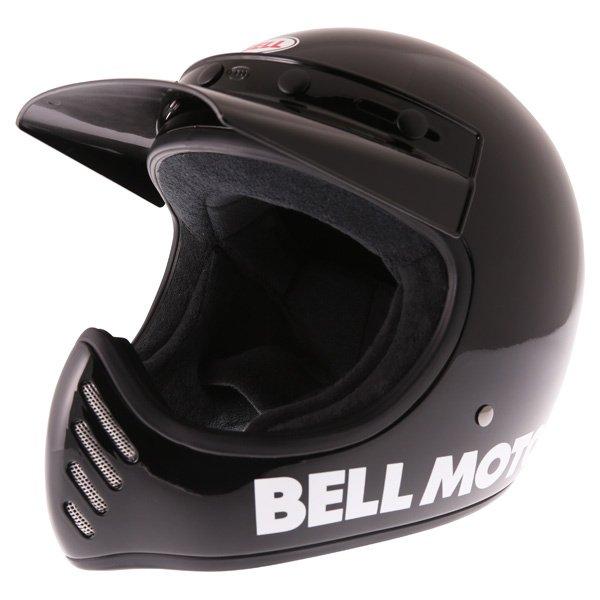 Bell Moto 3 Classic Black Adventure Motorcycle Helmet Front Left