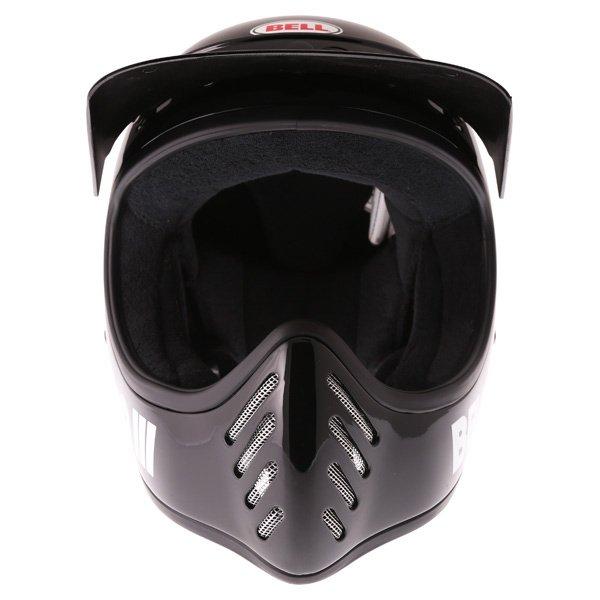 Bell Moto 3 Classic Black Adventure Motorcycle Helmet Front