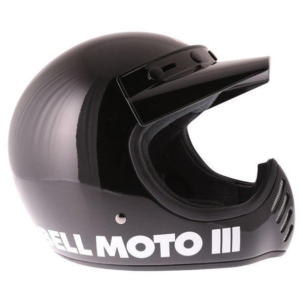 Bell Moto 3 Classic Black Adventure Motorcycle Helmet Right Side