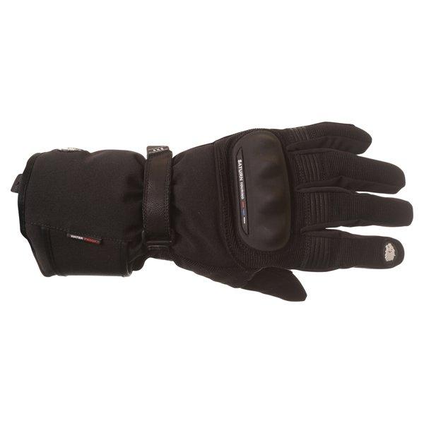 BKS Saturn Black Waterproof Motorcycle Gloves Back