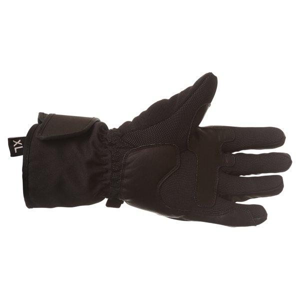 BKS Saturn Black Waterproof Motorcycle Gloves Palm