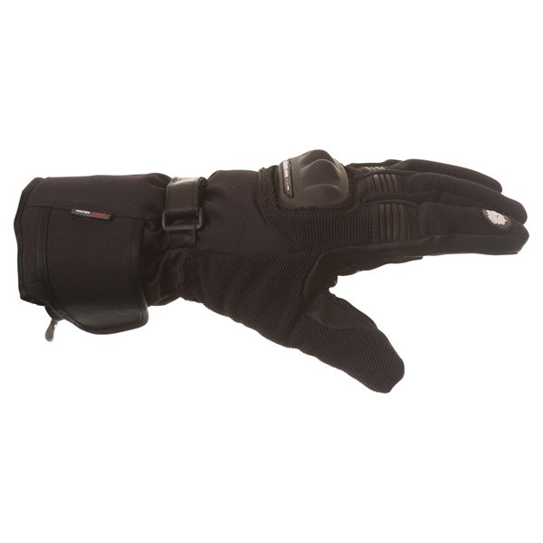 BKS Saturn Black Waterproof Motorcycle Gloves Little finger side