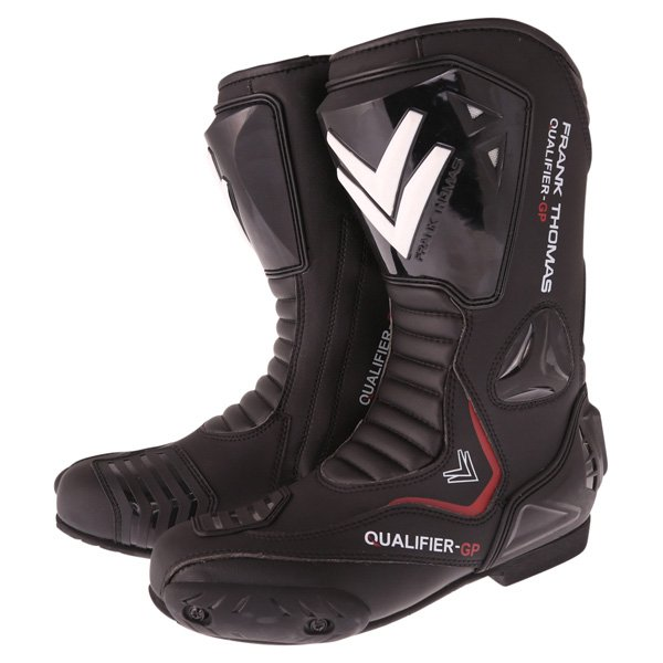 Qualifier GP Boots Black Motorcycle Boots