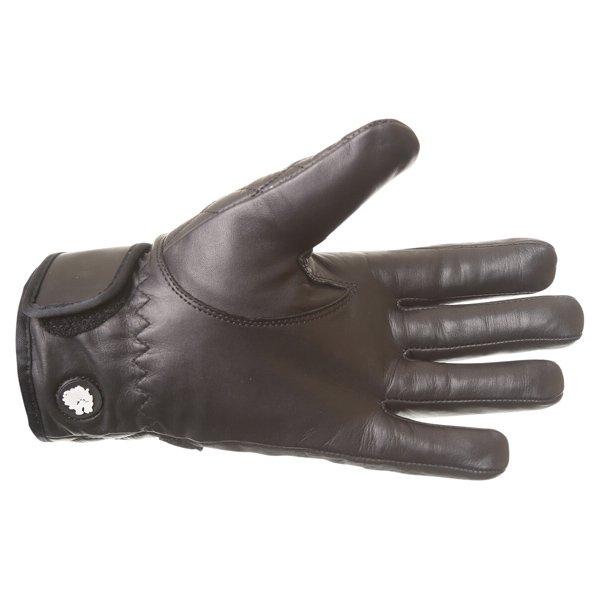 BKS Retro Lady A19-16 Ladies Black Motorcycle Gloves Palm