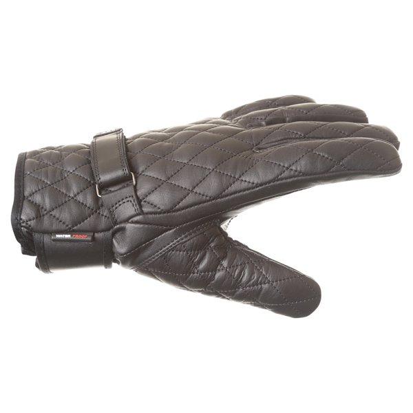 BKS Retro Lady A19-16 Ladies Black Motorcycle Gloves Thumb side