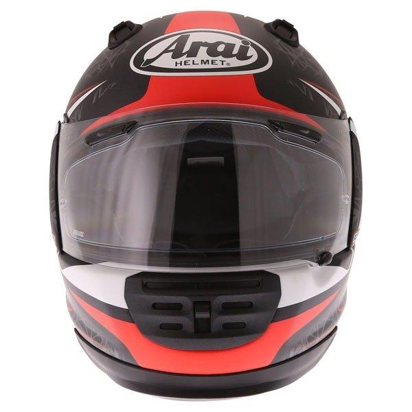 Arai Rebel Sting Red Full Face Motorcycle Helmet Front
