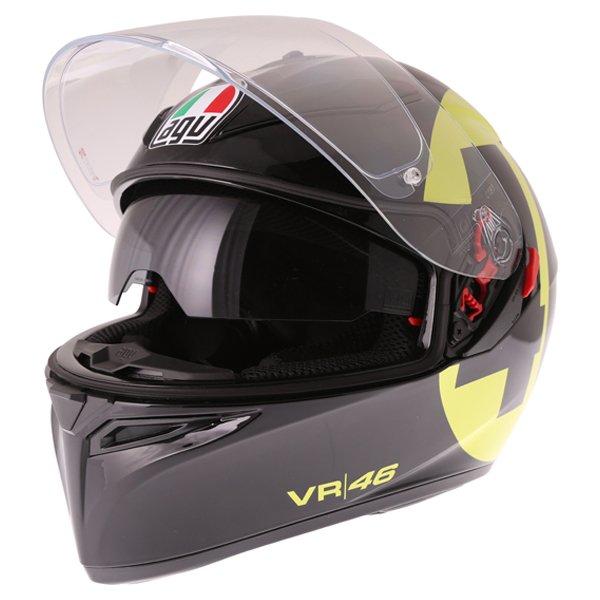 AGV K3 SV Bollo 46 Full Face Motorcycle Helmet Open With Sun Visor