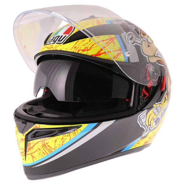 AGV K3 SV Bulega Full Face Motorcycle Helmet Open With Sun Visor