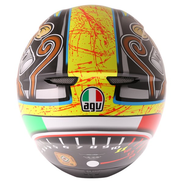 AGV K3 SV Bulega Full Face Motorcycle Helmet Back