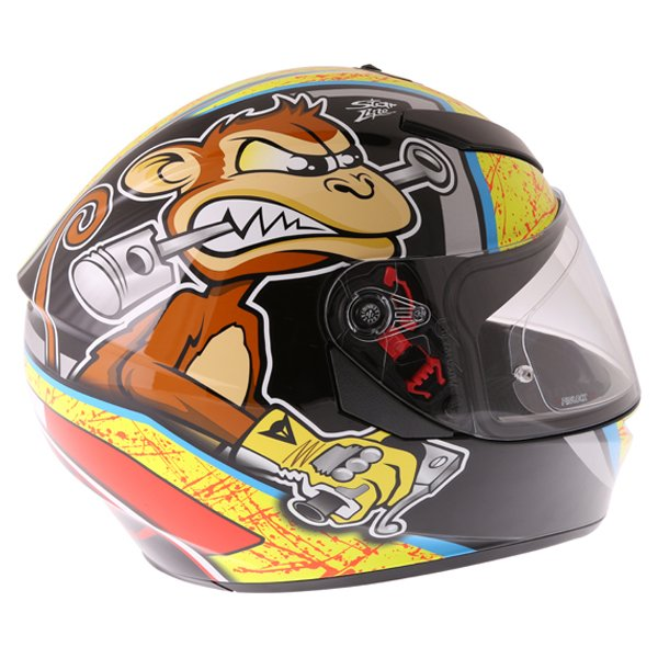 AGV K3 SV Bulega Full Face Motorcycle Helmet Top Right