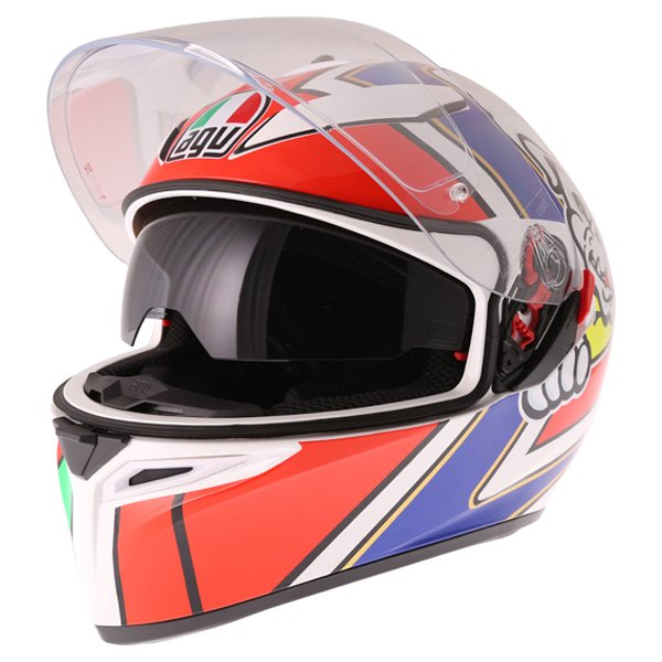 AGV K3 SV Marini Full Face Motorcycle Helmet Open With Sun Visor