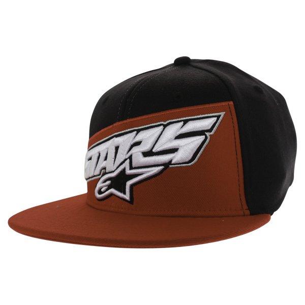 Alpinestars Druitt Flat Black Baseball Cap Front Left