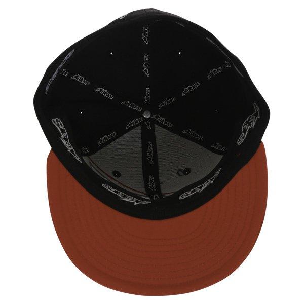 Alpinestars Druitt Flat Black Baseball Cap Inside