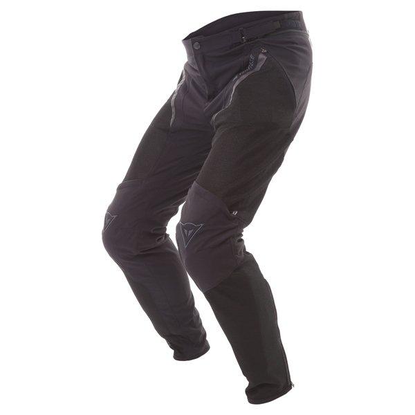 Dainese Drake Super Air Mens Black Textile Motorcycle Pants Riding position